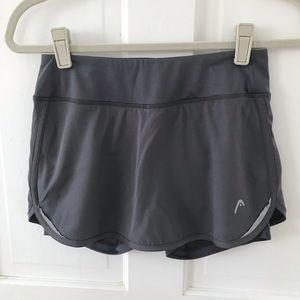 head mini exercise tennis skirt